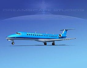 Embraer ERJ-145 Blue Sky Charters 3D model