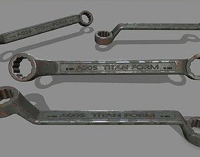 wrench 3D model game-ready wring