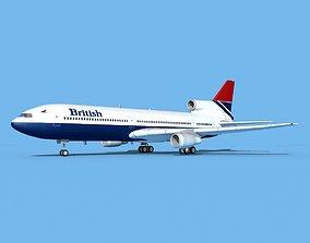 3D Lockheed L-1011 British Airways 2