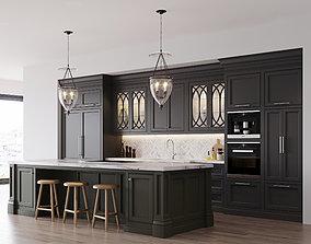 3D model Classic kitchen 2