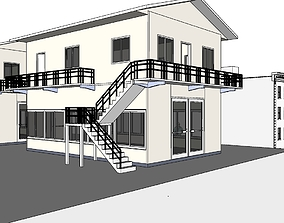 3D model town house and apartment