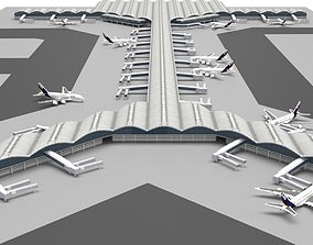 3D Hong Kong International Airport international