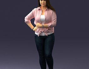 Girl in pink sweater 0004 3D Print Ready