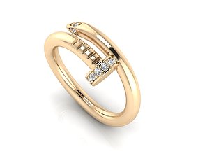 elegant Ring 34 3D print model