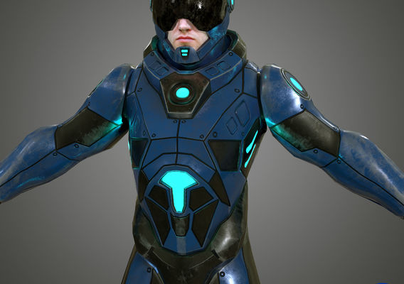 Scifi low poly Character