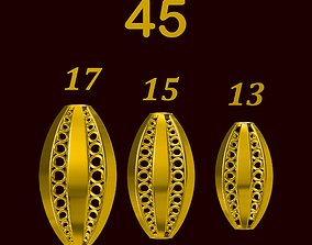 Para ball jewelery gold printable plain studded 45