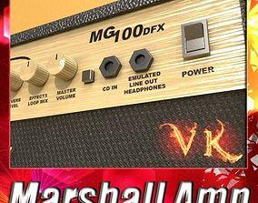 3D model Marshall Amplifier 100 w High Detail