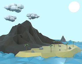 Low Poly Tropical Island 3D model