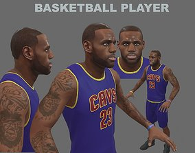 basketball-ball 3D model Basketball Player