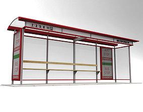 Bus stop vehicle 3D