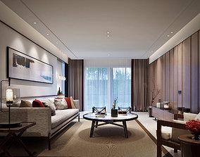 3D sofa Modern living room