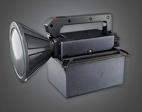 Military Handheld Flashlight - MLT - PBR Game 3D model