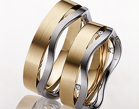 Wedding rings 012 3D print model