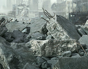 Demolished Concrete Rubble 3D model