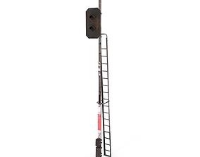 Train Traffic Light Weathered 5 3D model