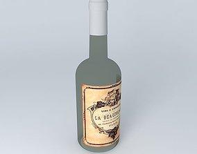 Wine Bottle 01 3D