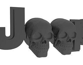 3D print model Jeep skull logo