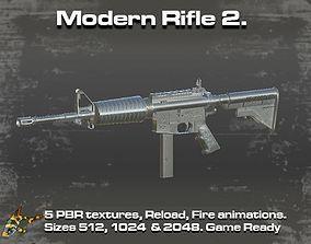 3D model animated Modern Rifle 2