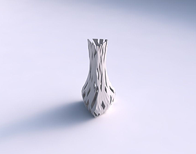 Vase puffy triangle with cuts 3D print model