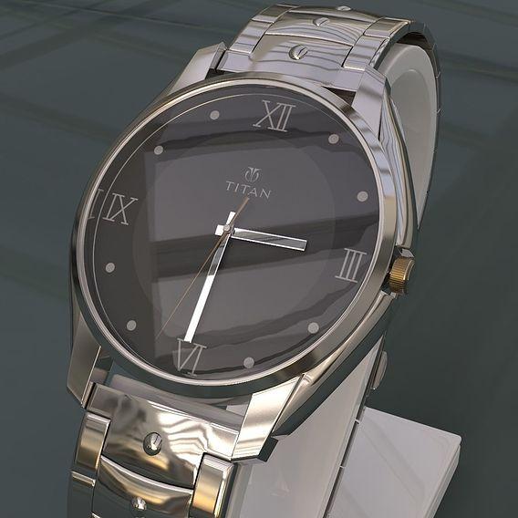 Titan Watch  Realistic  3d Model