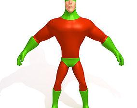 3D model Superhero Cartoon 03