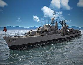 3D Daring Class Destroyer Battle Ship