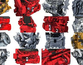 Truck Engine 3D Models