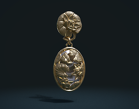 Water Lily Earring 3D printable model
