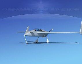 3D model Rutan VariEze Bare Metal
