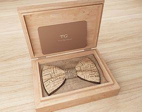 3D model Bowtie in a wooden box