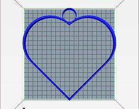 3D print model Stylized Heart Keychain