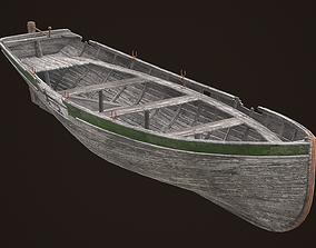 3D model Damaget wooden boat Yal-6