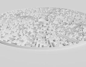 3D model Low poly large circular maze
