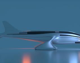 3D Futuristic Aircraft D 1