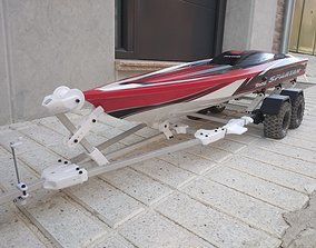 Boat Trailer for crawler or RC car 3D print model