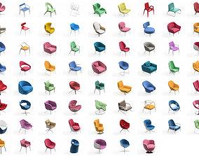 Armchair Modern Collection 70x 3D model