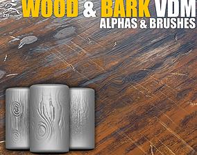 Wood and Bark VDM Brushes for ZBrush 3D model