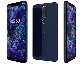 Nokia 5 1 Plus Baltic sea blue 3D model