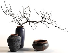bowl 3D model Branches in Vases