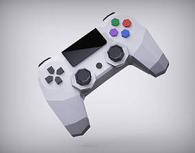 Play Station lowpoly Controller Joystick 3D asset