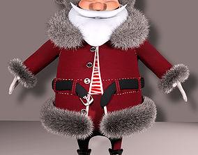 3D asset rigged santa