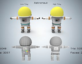 3D model animated realtime Astronaut