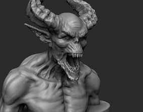 Demon - 3D printing ready sculpture