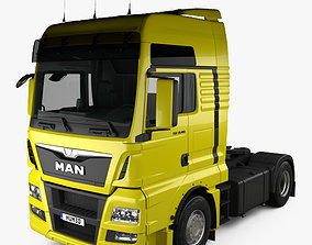 3D MAN TGX Tractor Truck 2-axle with HQ interior 2012