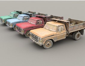 3D model Car Wreck Pack