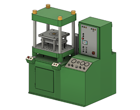 Laufer hydraulic moulding press 3D asset
