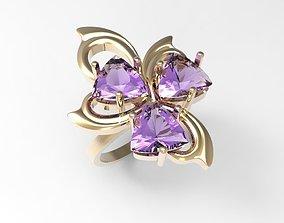 Ring Trillion flower STL 3D print model