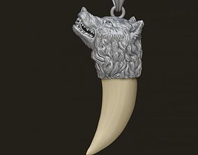 Wolf tooth nail pendant high 3D print model