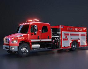 3D model Fire Engine - American Custom Pumper Truck