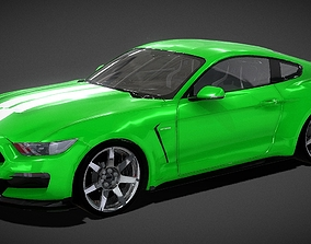 Shelby Ford Mustang GT 350 3D Model low-poly model
